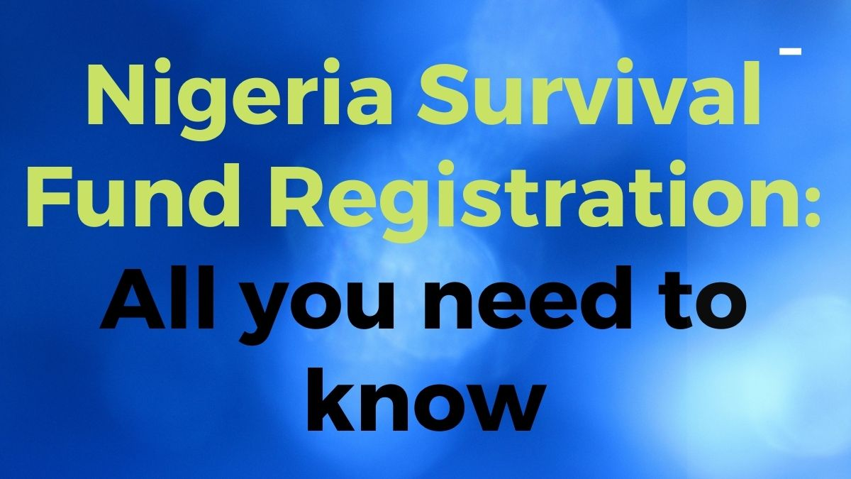 Image describing Nigeria Survival Fund registration