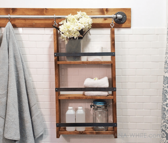 Rustic Ladder Shelf