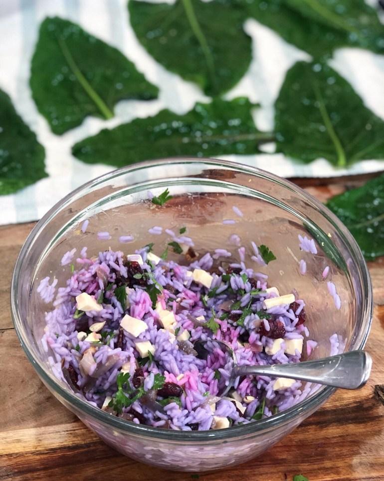 purple rice filling