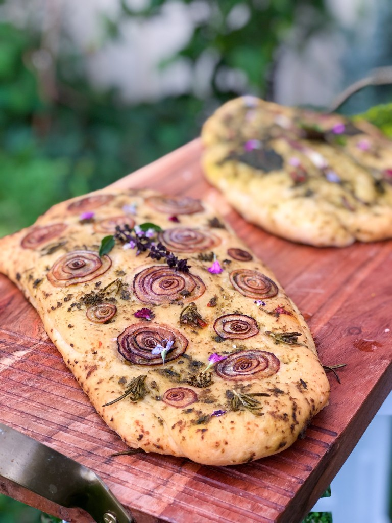 Garden Focaccia Bread Herb And Garlic Sustainable Holly