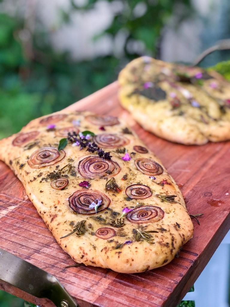 Garden Focaccia Bread Herb And Garlic Sustainable Holly
