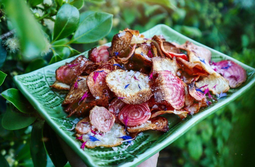 salt and vinegar beetroot chips