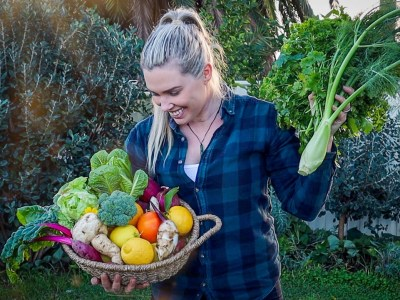 Harvesting from my Sustainable Permaculture Garden