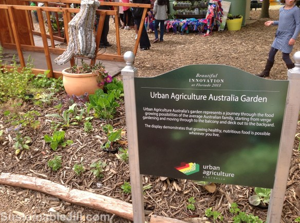 Urban Agriculture Australia's sign and verge garden, Floriade 2013