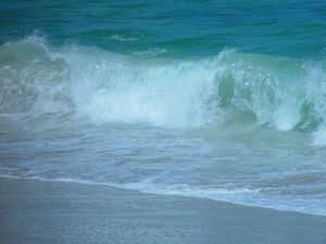 Picture of wave breaking on beach