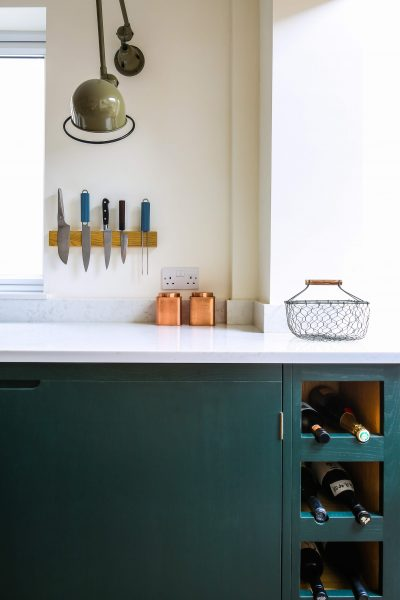 Green Industrial Style Galley Kitchen  Sustainable Kitchens