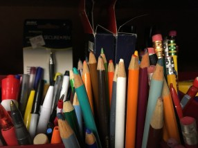 There are TONS of writing utensils in the Office Supply Share! (Image courtesy of The Office of Sustainability)