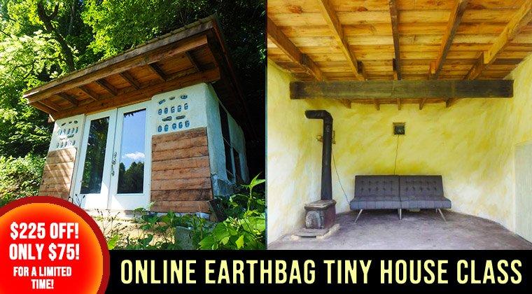 Earthbag Tiny House Banner