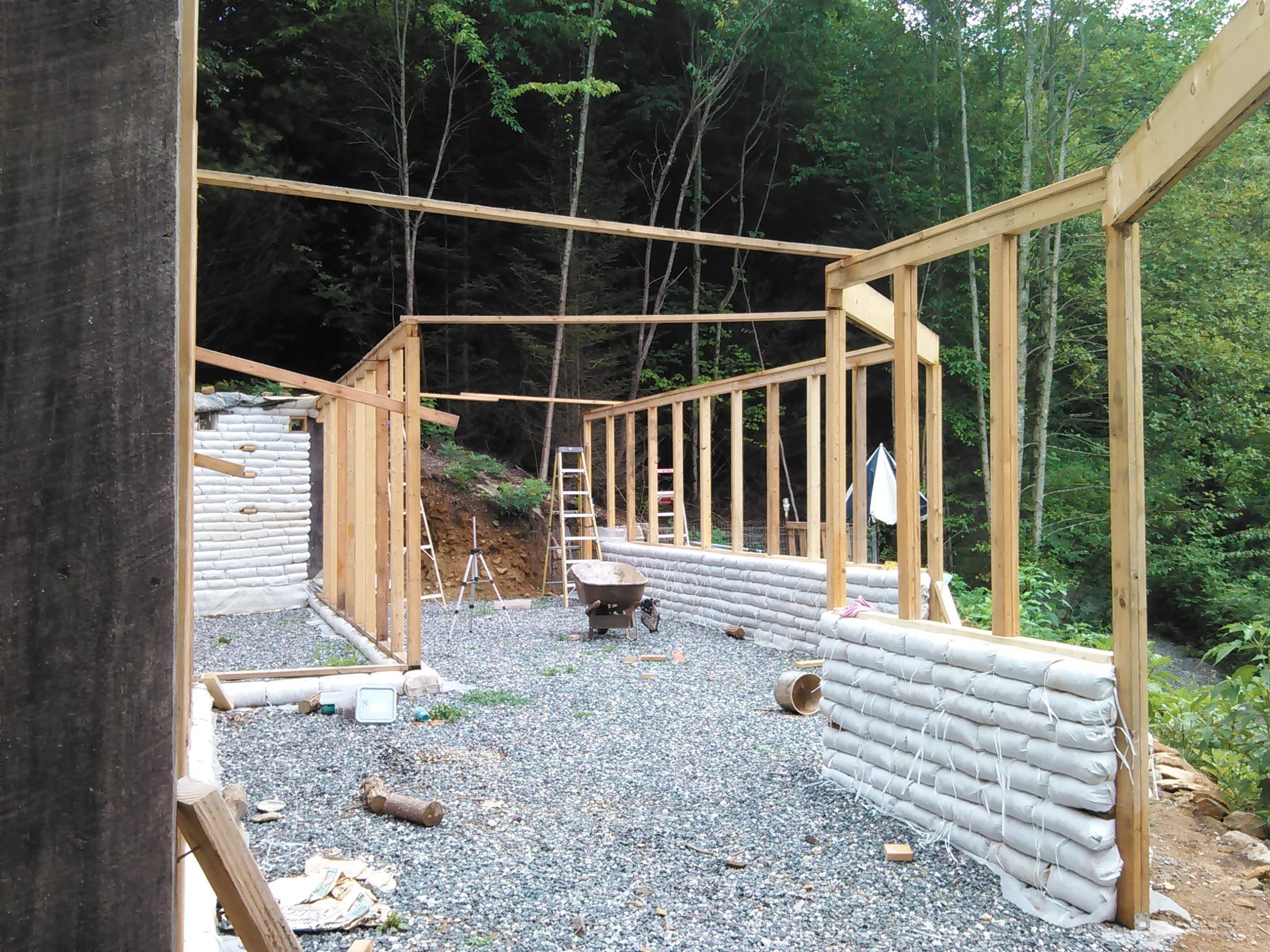 earthbag earthship construction