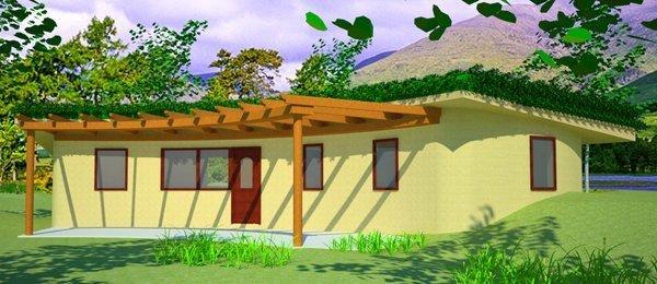 Earthbag Arc House