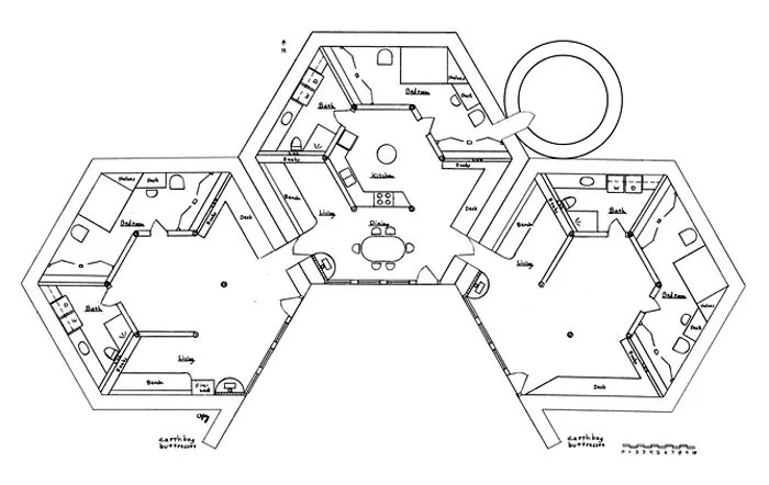 Earth Lodge Cluster Plans