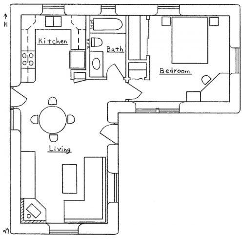 L-Shaped House Floor Plan