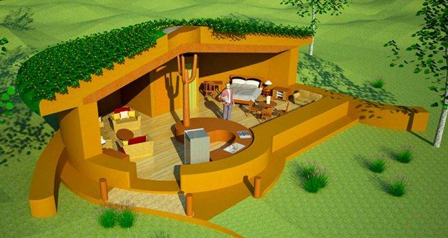 Spiral Earthbag House