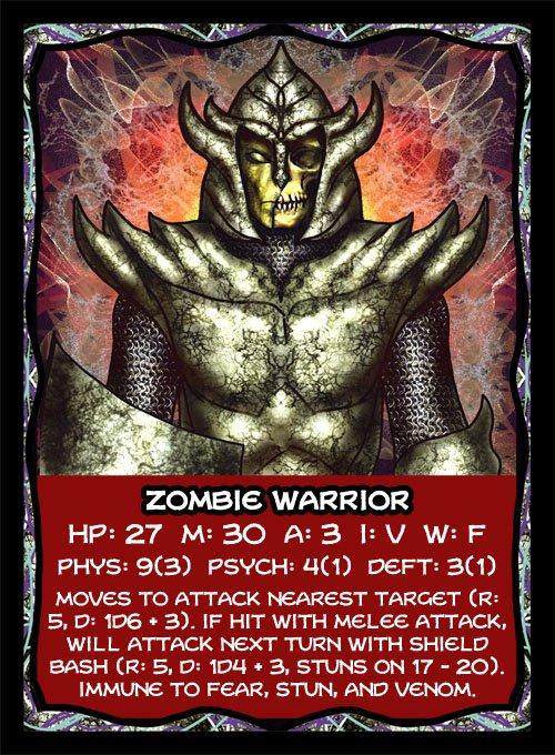 Zombie Warrior Card