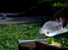 DIY solar water filter bottle
