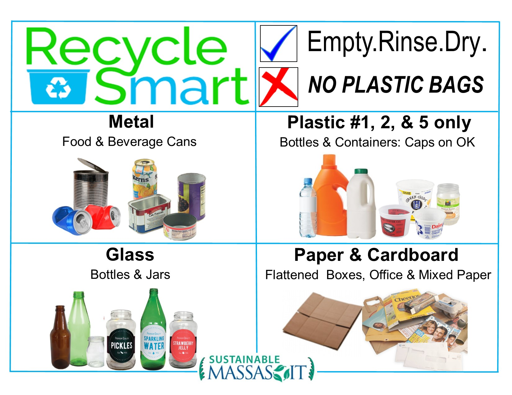 Mixed Recycling Sustainable Massasoit