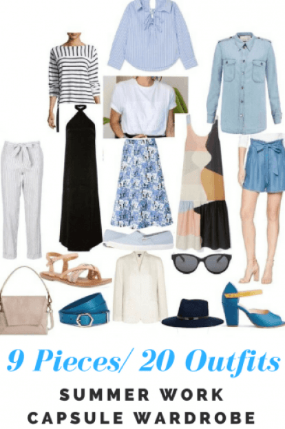 Summer work capsule wardrobe