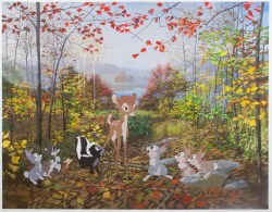 White Tailed Deer 2012flash acrylic on Tyvek 99 x 144 inches (8.25 x 12 ft)