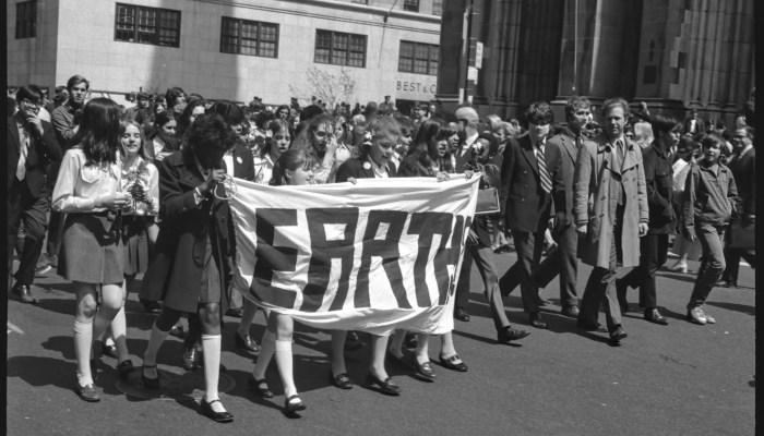 earth day protestors