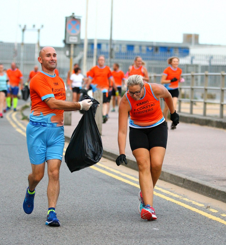 this is an example of plogging from ploggers!