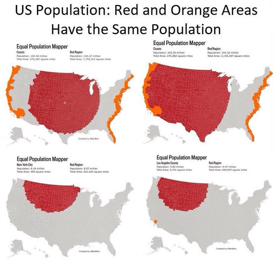 Chart showing overcrowded cities in America