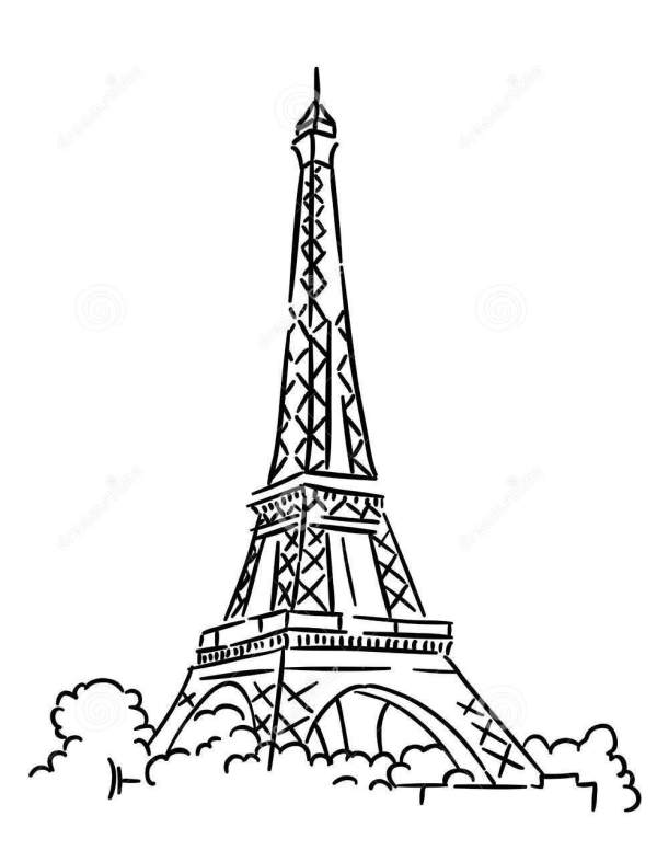 eiffel tower coloring pages # 8