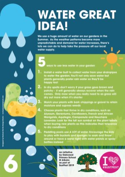 6. Water great idea!
