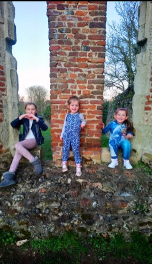 "Eva said: ""We decided to take a trip to the Roman Nunnery on Cottonmill Lane. Me and my sister's loved playing hide and seek, taking pictures and just having fun together in something that is so old."""