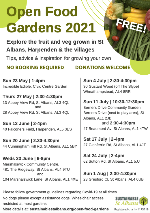 Open Food Gardens programme 2021