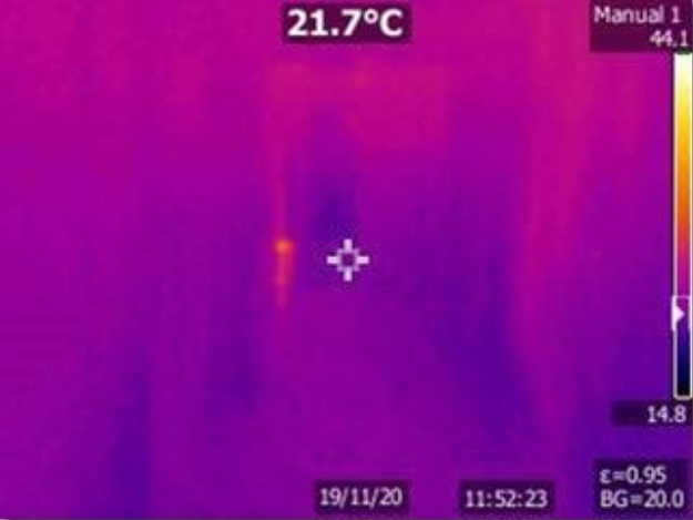 Thermal Imaging Camera -- corridor in the two storey area of Grove House