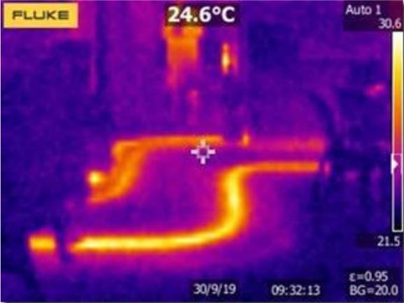 Thermal Imaging Camera - Grove House Underfloor Heating - Before