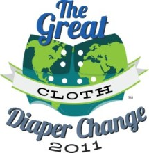 Logo with basic map of the world and the words The Great Cloth Diaper Change 2011