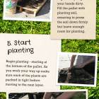 Do it Yourself Vertical Garden - goes through whole process from supplies needed to putting in the plants, with images of each stage.