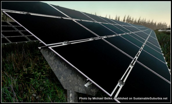 Solar panels at a solar power plant in Germany