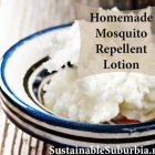 Homemade mosquito repellent lotion - image of a bowl of shea butter | SustainableSuburbia.net