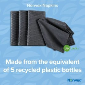 Norwex recycled napkins - made from the equivalent of 5 plastic recycled bottles | SustainableSuburbia.net