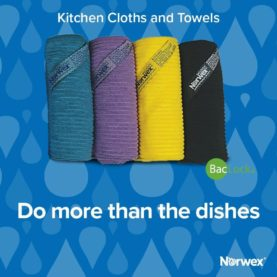 New Norwex Kitchen cloth colours - teal, eggplant, sunflower and charcoal