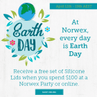 At Norwex, everyday is Earth Day. Receive a free set of silicon lids when you spend $100 at a Norwex party or online between midday April 12 and Midday April 19, Australia only | SustainableSuburbia.net