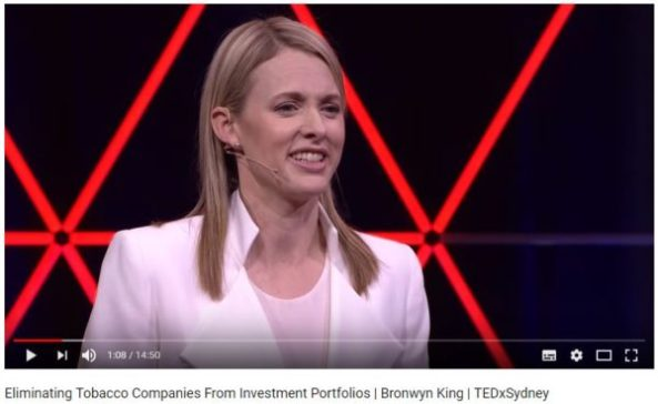 Bronwyn King giving a TED Talk | SustainableSuburbia.net
