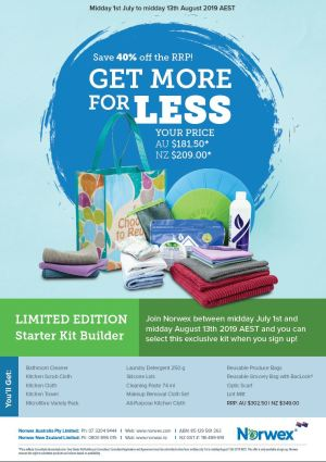 Limited Edition Norwex Starter Kit Builder Pack, Save 40%