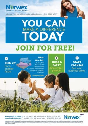 You can Make a difference today. Join for free. 1. Sign up for a brighter future. You'll get 1 Envirocloth, 2 dusting mitt, 1 window cloth, plus all the catalogues and stationary currently in the basic starter kit. 2. Host a party to share your passion. 3. Start earning. See your business thrive.