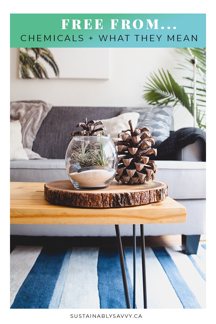 FREE FROM CHEMICALS AND WHAT THEY MEAN PINTEREST