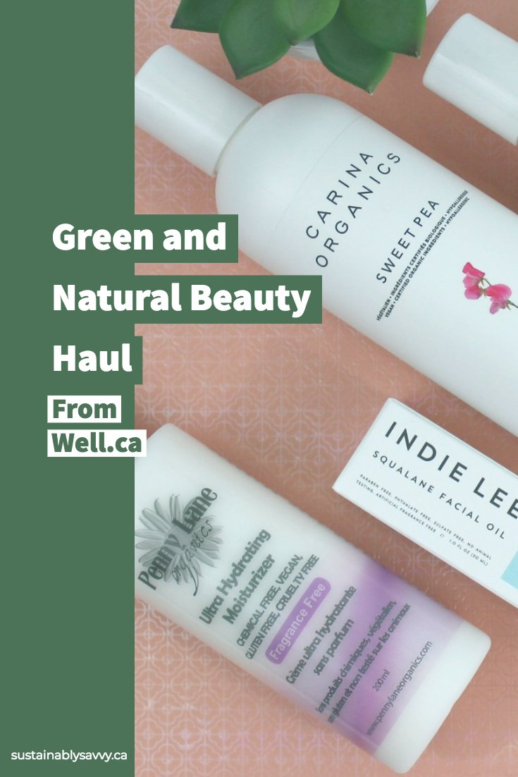 Natural beauty haul from well.ca