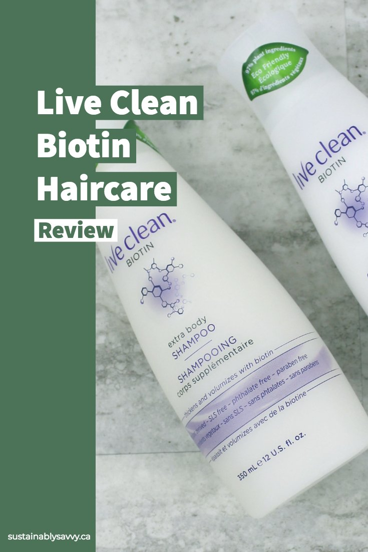 live clean biotin haircare review