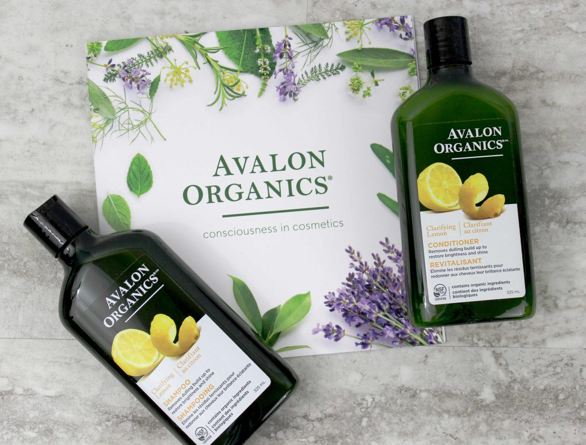 AVALON ORGANICS CLARIFYING LEMON SHAMPOO AND CONDITIONER