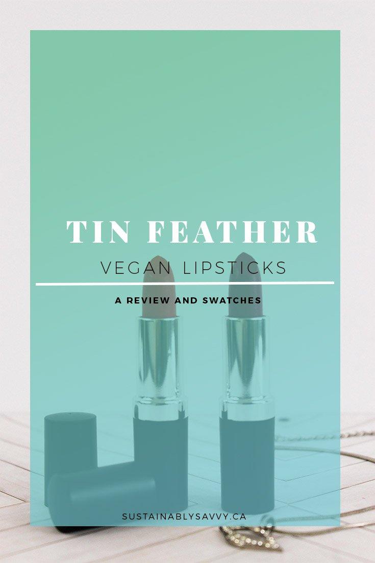 TIN FEATHER VEGAN LIPSTICK REVIEW