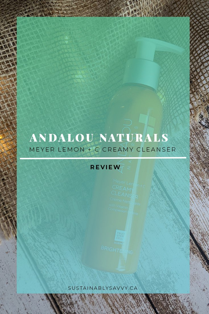 ANDALOU NATURALS MEYER LEMON CREAMY CLEANSER REVIEW