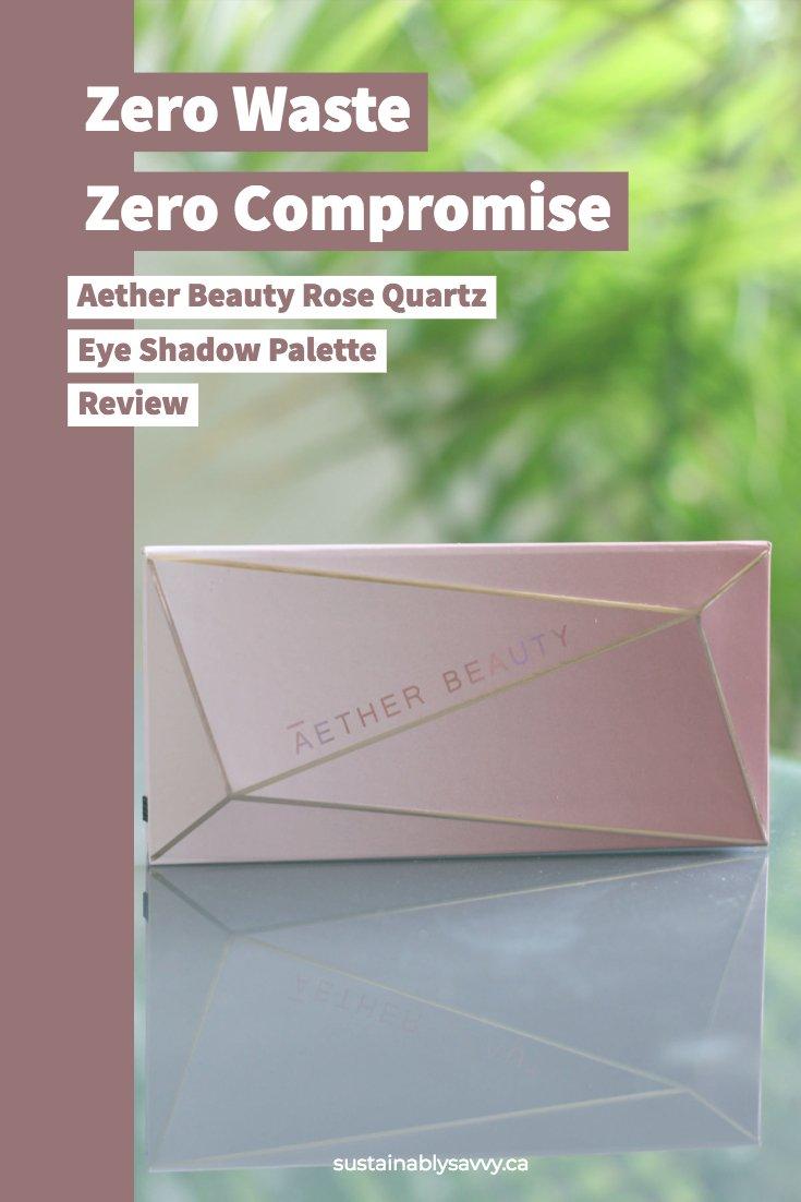 Aether Beauty Rose Quartz Palette Zero Waste - Zero Compromise