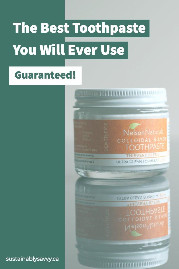 Nelson Naturals zero waste Toothpaste