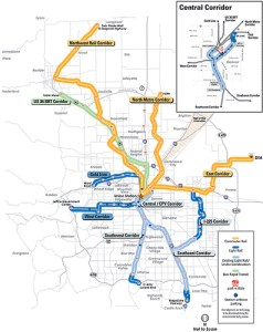 Denver Rail Map postcarbon.org